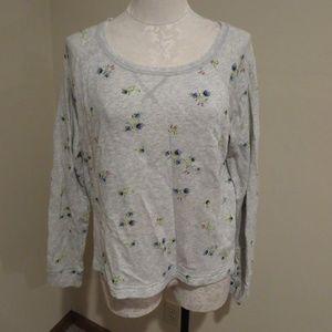 Aerie floral print pullover sweatshirt top shirt